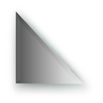 Зеркальная плитка с фацетом 15 мм, треугольник 25 х 25 см, серебро Evoform