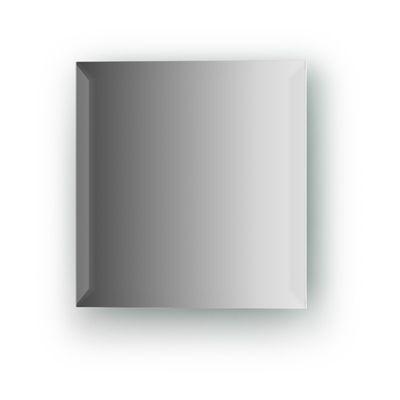Зеркальная плитка с фацетом 15 мм, квадрат 20 х 20 см, серебро Evoform