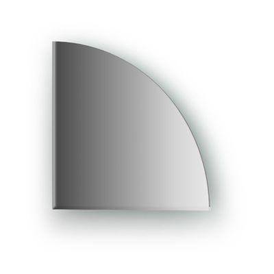 Зеркальная плитка с фацетом 5 мм, четверть круга 20 х 20 см, серебро Evoform