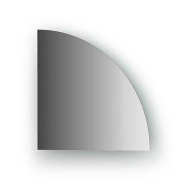 Зеркальная плитка со шлифованной кромкой четверть круга 20 х 20 см, серебро Evoform