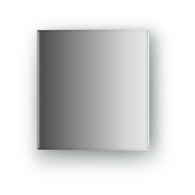 Зеркальная плитка с фацетом 5 мм, квадрат 20 х 20 см, серебро Evoform