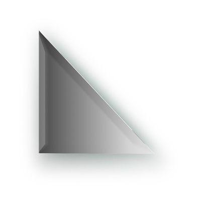 Зеркальная плитка с фацетом 15 мм, треугольник 20 х 20 см, серебро Evoform