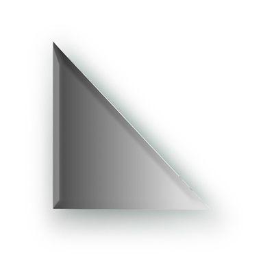 Зеркальная плитка с фацетом 10 мм, треугольник 20 х 20 см, серебро Evoform