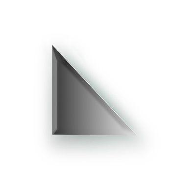 Зеркальная плитка с фацетом 10 мм, треугольник 15 х 15 см, серебро Evoform