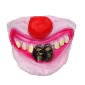 Полумаска латекс 'Улыбка клоуна', два зуба в виде черепа Ош