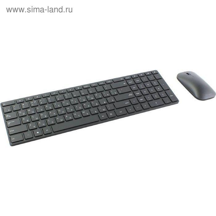 Комплект клавиатура и мышь Microsoft Designer 7N9-00018,bluetooth,мембранный,1000dpi,черный