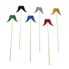 Аксессуары для фотосессии «Мудрец», усы на палочке, цвета МИКС