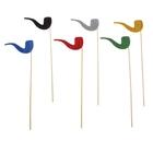 Аксессуары для фотосессии «Трубка», на палочке, цвета МИКС