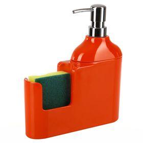 Дозатор для моющих жидкостей 300 мл Veroni, цвет красный