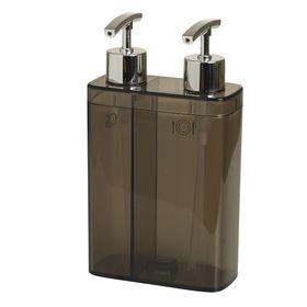 Дозатор для жидкого мыла двойной Viva, цвет прозрачно-дымчатый