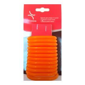 Кольца для штор 12 шт, цвет оранжевый Ош