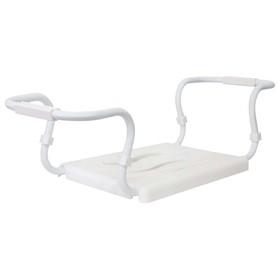 Сиденье для ванной белое, стальной каркас, нагрузка до 120 кг Ош