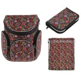 Ранец на молнии Mag Taller Boxi, 38 х 29 х 19, наполнение: мешок, пенал, Flowers