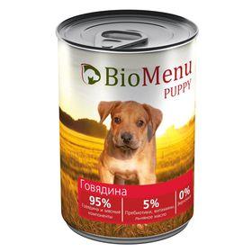 Консервы BioMenu PUPPY для щенков говядина 95%-мясо , 410гр