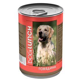 """Консервы """"Дог ланч"""" для собак, говядина в желе, 410 г."""