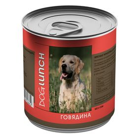 """Консервы """"Дог ланч"""" для собак, говядина в желе, 750 г."""