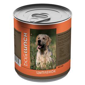 """Консервы """"Дог ланч"""" для собак, цыпленок в желе, 750 г."""