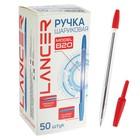 Ручка шариковая Office Style 820, узел 1.0мм, чернила красные, корпус прозрачный
