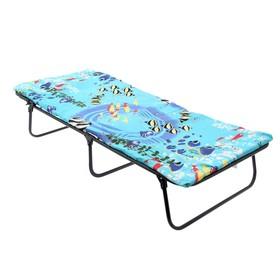 Кровать раскладная детская и матрас 145х65х26 см, до 60 кг Ош