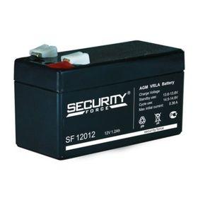 Аккумуляторная батарея Security Force SF 12012, 12 В, 1.2 А/ч Ош