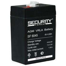 Аккумуляторная батарея Security Force SF 6045, 6 В, 4.5 А/ч Ош