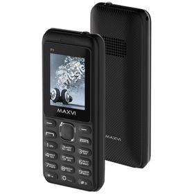 "Сотовый телефон Maxvi P1, 1.77"", 2 sim, 32Мб, microSD, 1.3 Мп, 1500 мАч, черный"