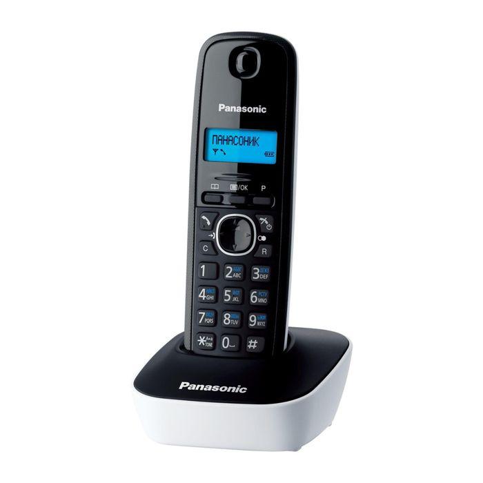 Радиотелефон Dect Panasonic KX-TG1611RUW белый/чёрный, АОН