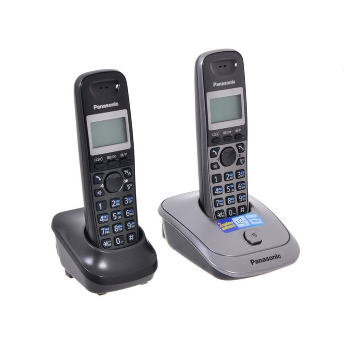 Радиотелефон Dect Panasonic KX-TG2512RU1 серый металлик, АОН
