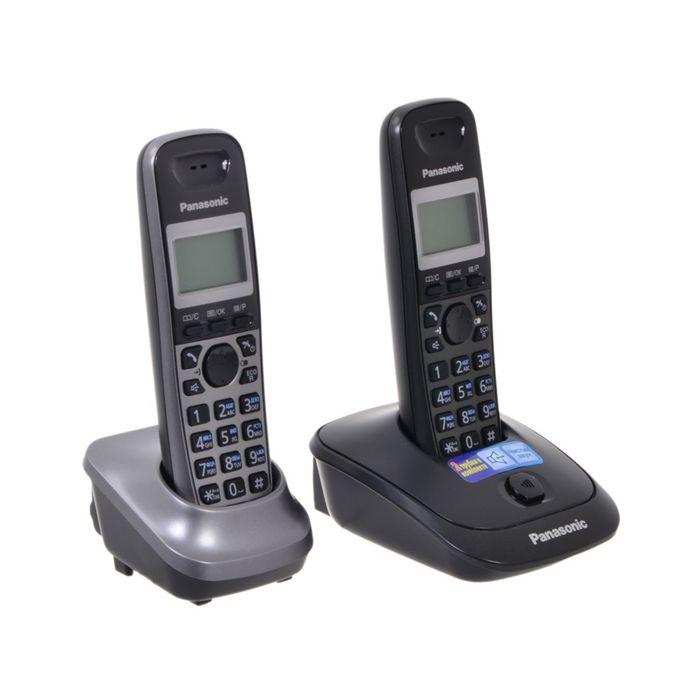 Радиотелефон Dect Panasonic KX-TG2512RU2 титан, АОН