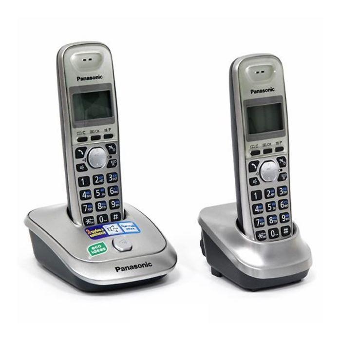 Радиотелефон Dect Panasonic KX-TG2512RUN платиновый, АОН