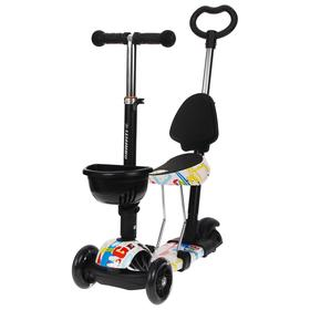 Самокат-каталка детский 5 в 1, колёса световые PU 115/90 мм, ABEC 7