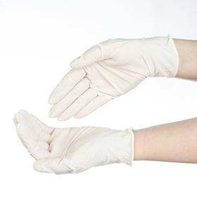 Медицинские перчатки латексные нестерильные опудренные, M, 50 пар/100 шт