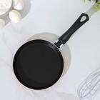 Сковорода блинная «Шёлк», d=18 см, антипригарное покрытие, цвет оранжевый - Фото 2