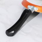 Сковорода блинная «Шёлк», d=18 см, антипригарное покрытие, цвет оранжевый - Фото 5