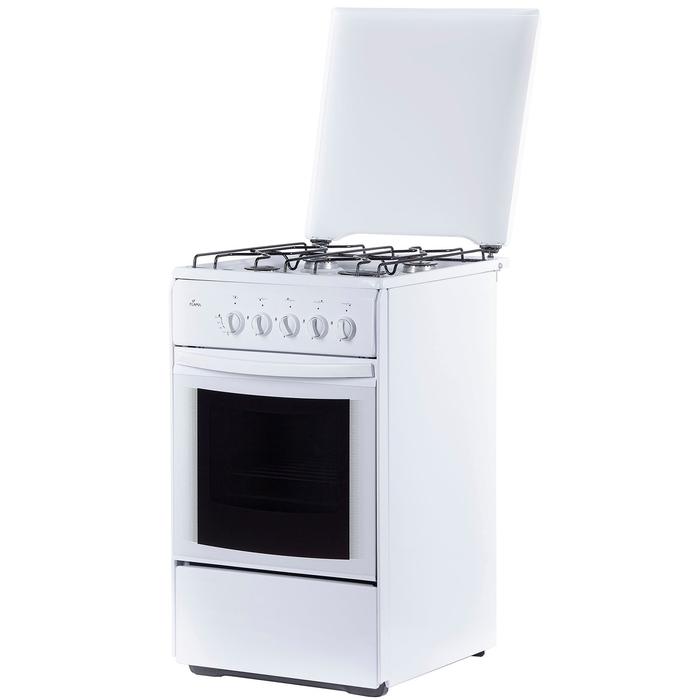 Плита Flama RG 24022 W, газовая, 4 конфорки, 50 л, газовая духовка, белая