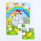 Пазл «Курица и радуга» 6 элементов
