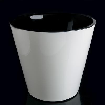 Кашпо со вставкой на колёсиках InGreenl «Фиджи», 16 л, цвет белый