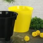 Кашпо со вставкой «Фиджи», 1,6 л, цвет жёлтый - Фото 2