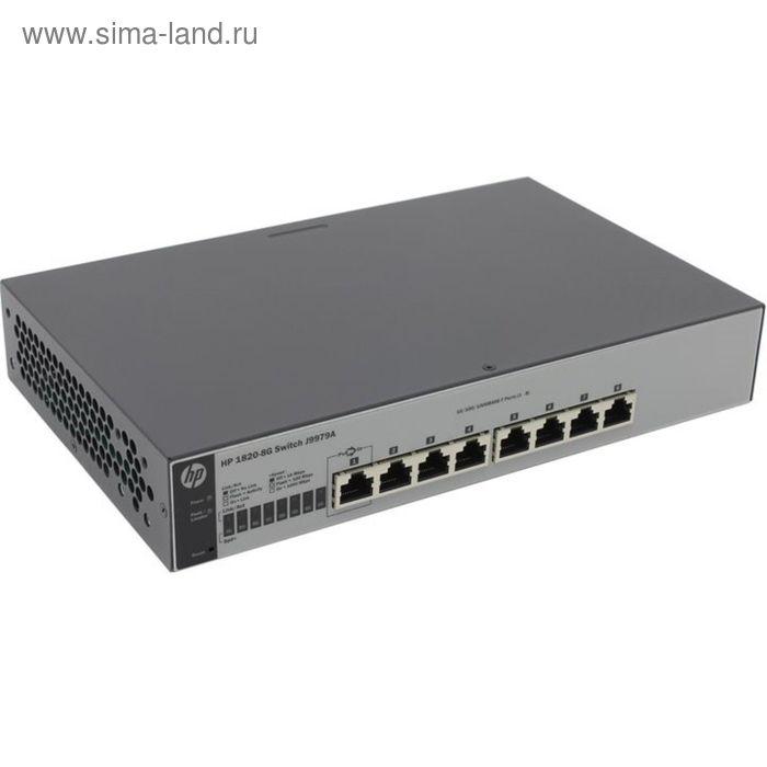 Коммутатор HPE 1820-8G J9979A управляемый настольный 8x10/100/1000BASE-T
