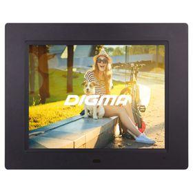Фоторамка Digma 8' PF-833 1024 x768, ПДУ Видео, черный Ош