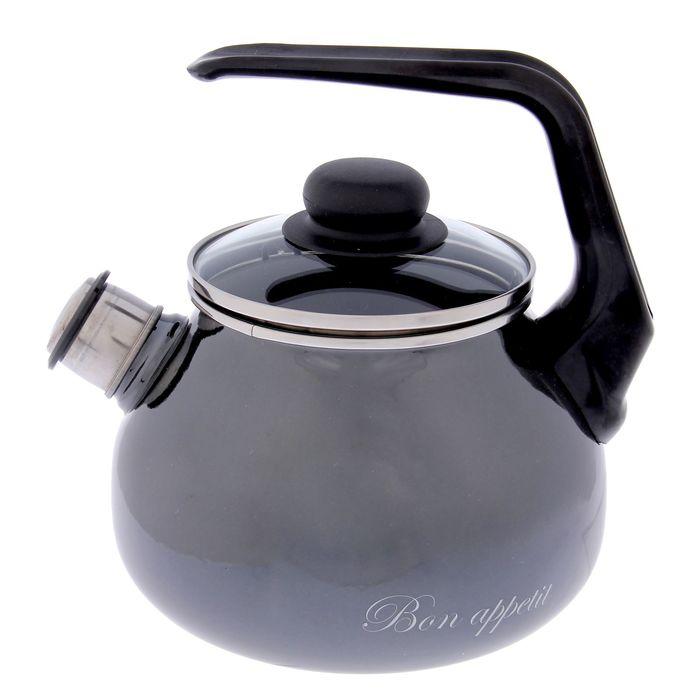 Чайник со свистком Bon Appetit, 2 л, фиксированная ручка