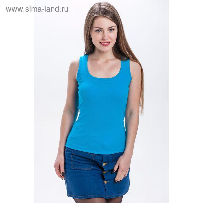 Майка женская М-682-15 цвет голубой, р-р 44