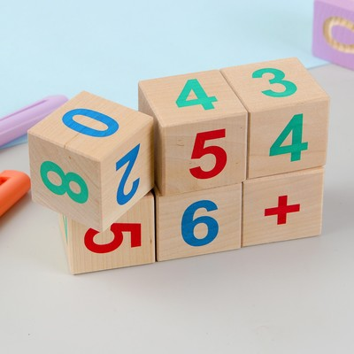 Кубики «Веселый счёт», 6 шт. - Фото 1