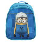 Рюкзачок детский «Миньоны», Universal Studios, 23 х 19 х 8 см, для мальчика, синий/голубой
