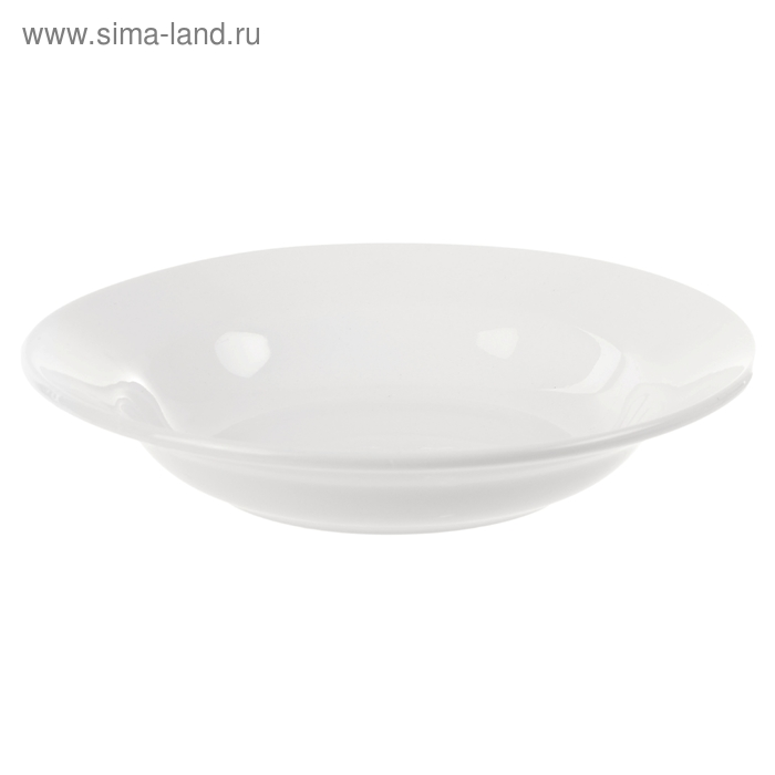 Тарелка глубокая 20 см, 250 мл, цвет белый