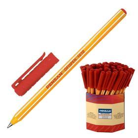 Ручка шариковая Pensan OFFISPEN 1010, узел 1.0 мм, красная
