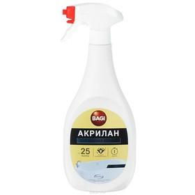 Чистящее средство для ванных комнат Bagi «Акрилан», спрей, 400 мл