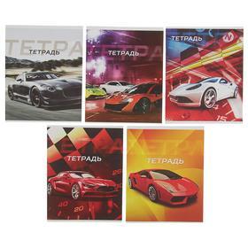 купить Тетрадь 48 листов в клетку Авто, обложка мелованная бумага, блок 2, белизна 75 серые листы, МИКС