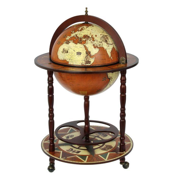 Глобус-бар декоративный Старинная карта