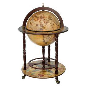 Глобус бар декоративный 'Карта Коломбо' 91х60х60 см Ош